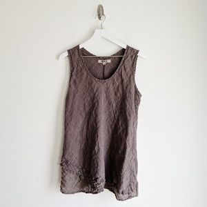 FLAX Brown Linen Tunic